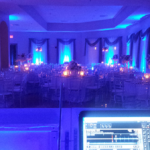 Wedding Blue Uplighting.