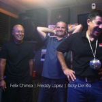 DJ Felix Chinea, Freddy Lopez and Ricky Del Rio at Weppa FM Studios.