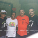 DJ Felix Chinea, John Benites, Robbie Leslie and Freddy Lopez.